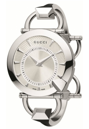 Women's Chiodo Steel Bangle Silver Helical Dial Watch  35mm