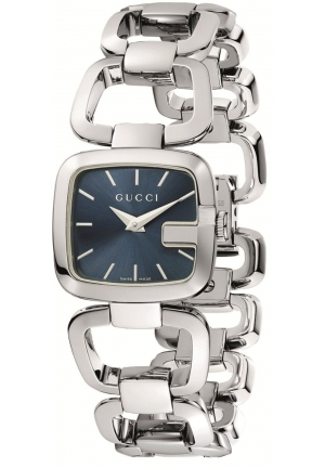 Women's G-Gucci Small Blue Dial Steel Bracelet Watch  24mm