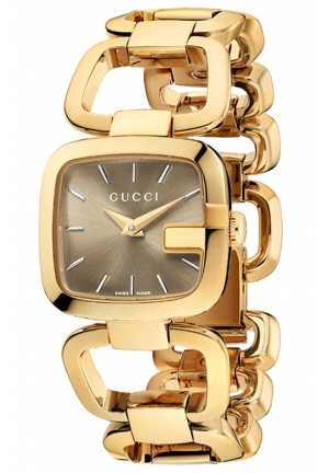 GUCCI Women's Swiss G-Gucci Yellow Gold PVD Stainless Steel Bracelet 24x22mm