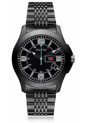 Gucci Men's Timeless Black Stainless Steel Watch  45mm