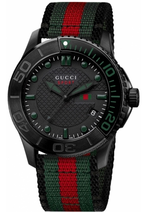 Gucci 'G Timeless' Nylon Strap Watch  44mm