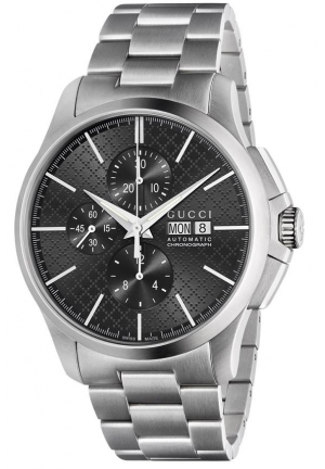G-Timeless Chronograph Automatic Black Dial Stainless Steel Men's Watch