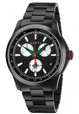 G-TIMELESS CHRONOGRAPH XL BLACK DIAL MEN'S WATCH YA126268, 44MM