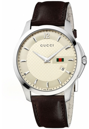 Gucci 'G Timeless' Leather Strap Watch  40mm