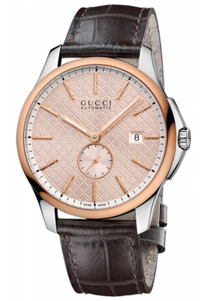 GUCCI G-Timeless Large Automatic Rose Dial Men Watch