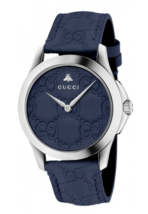 Gucci G-Timeless Blue Leather Watch