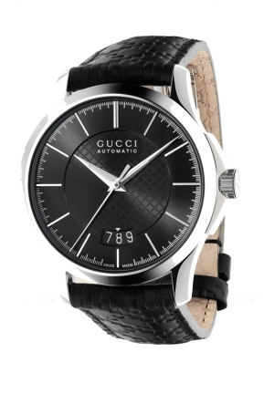 GUCCI G-Timeless Collection Medium Diamante Leather Watch  38mm