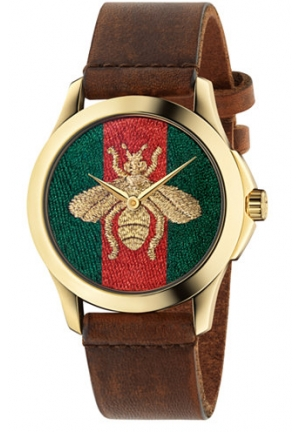 G-TIMELESS RED AND GREEN NYLON DIAL MEN'S WATCH YA126451, 38MM
