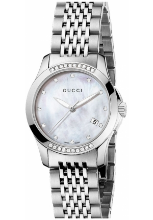 Gucci 'G Timeless' Small Diamond Bracelet Watch, 27mm
