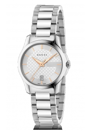 G-TIMELESS SILVER DIAL STAINLESS STEEL LADIES WATCH , 27MM