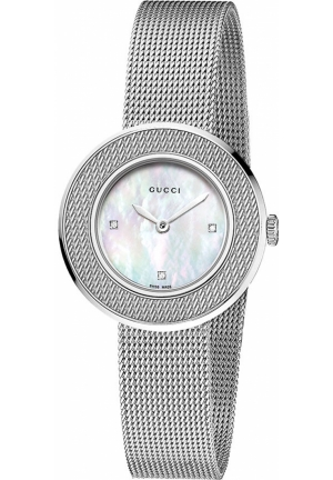 Gucci Round Diamond Dial Watch  27mm
