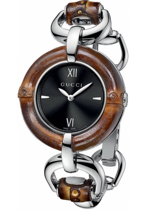GUCCI Ladies' Bamboo Black Dial Watch  35mm