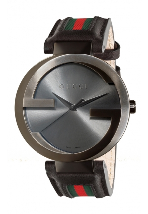 GUCCI Interlocking Iconic Bezel Anthracite Dial Watch 42mm