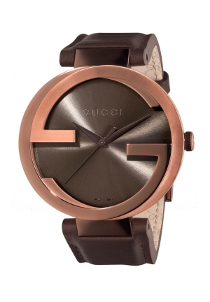 GUCCI Interlocking Iconic Bezel Brown Dial Watch  42mm