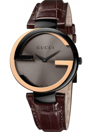 GUCCI Interlocking Ladies G Watch Leather Strap 37mm
