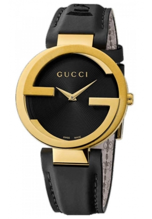 GUCCI Unisex Interlocking GRAMMY Special Edition Black Watch  37mm