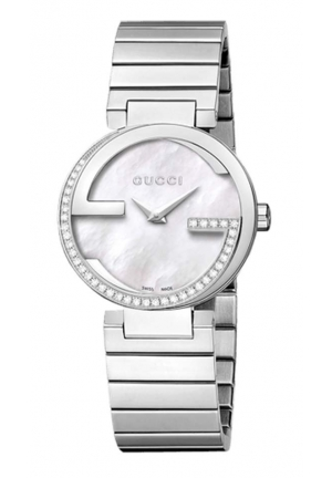 Gucci Interlocking Mother of Pearl Dial Stainless Steel Ladies Watch