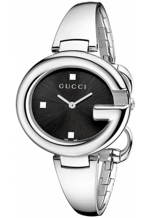 Women's Guccissima Fashion Bangle Black Dial Watch 36mm