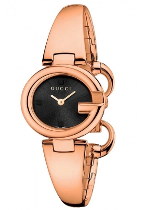GUCCI Gucci Guccissima Collection Analog Display Swiss Quartz Rose Gold Watch  27mm