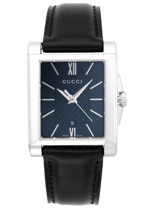 GUCCI G-Timeless Black Leather Strap Watch 26mm