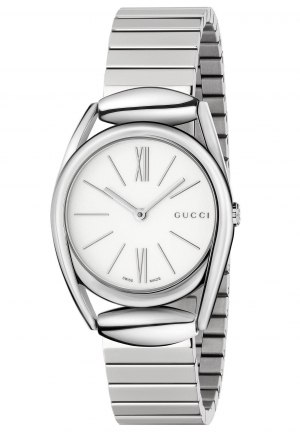 GUCCI HORSEBIT NEW SMALL WHITE DIAL LADIES WATCH
