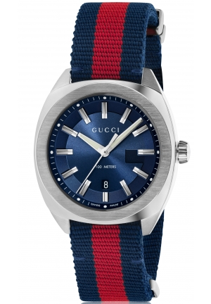 GG2570 Blue Dial Blue and Red Nylon Men's Watch,YA142304