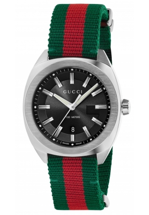 Gucci Men's Swiss Green-Red-Green Web Nylon Strap Watch 41mm