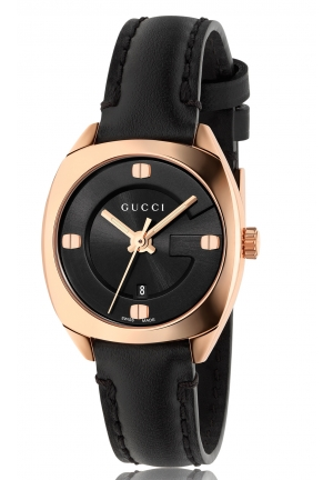 GG2570 ROSE GOLD PLATED BLACK DIAL LADIES WATCH 29MM